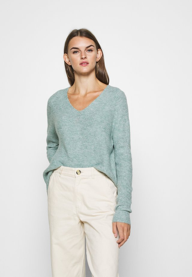 JDYANNE WIDE V NECK - Jumper - abyss