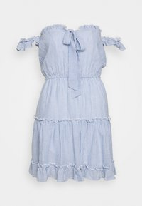 Nly by Nelly - CUTE OFF SHOULDER DRESS - Day dress - blue - 0