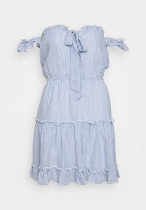 CUTE OFF SHOULDER DRESS - Day dress - blue