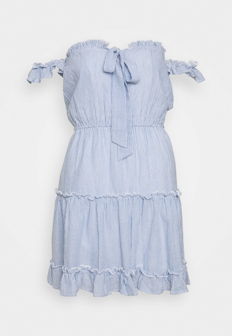 Nly by Nelly - CUTE OFF SHOULDER DRESS - Day dress - blue