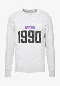 Jack & Jones - JCOCARVING CREW NECK - Sweatshirts - light grey melange - 4