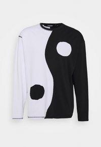 Jaded London - CUT AND SEW YIN AND YANG - Camiseta de manga larga - black/white - 3