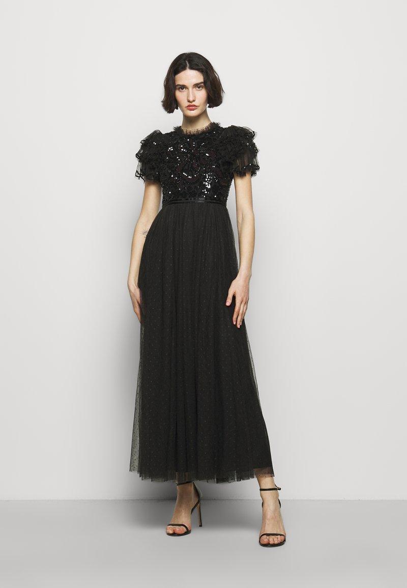 Needle & Thread - SHIRLEY RIBBON BODICE ANKLE DRESS - Společenské šaty - ballet black