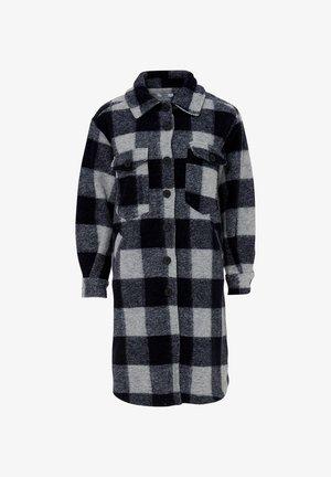 VALLEY - Classic coat - navy slash grey