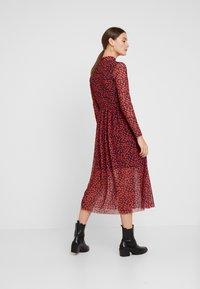 TOM TAILOR DENIM - PRINTED MESH DRESS - Vestido informal - black/red - 3