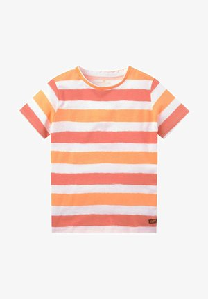 STRIPED - Print T-shirt - lively coral red