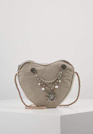 HERZTASCHE CHARIVARI - Across body bag - taupe/grau
