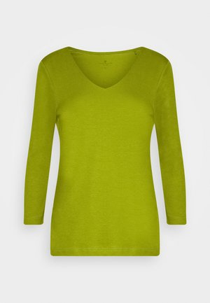 DOUBLE FRONT - Long sleeved top - wood green