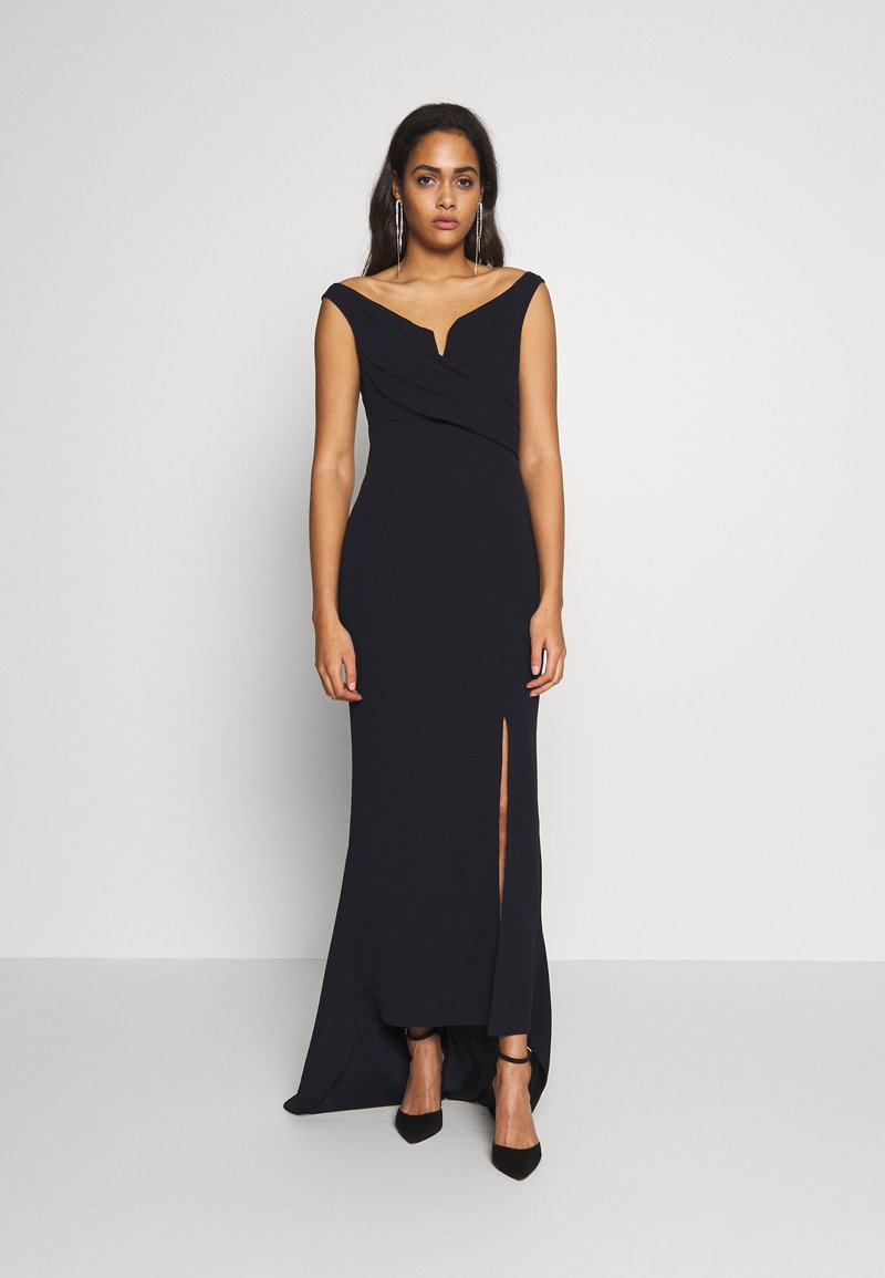WAL G. - OFF THE SHOULDER MAXI DRESS - Společenské šaty - navy blue