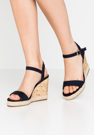 PERTH WEDGE - Korolliset sandaalit - navy