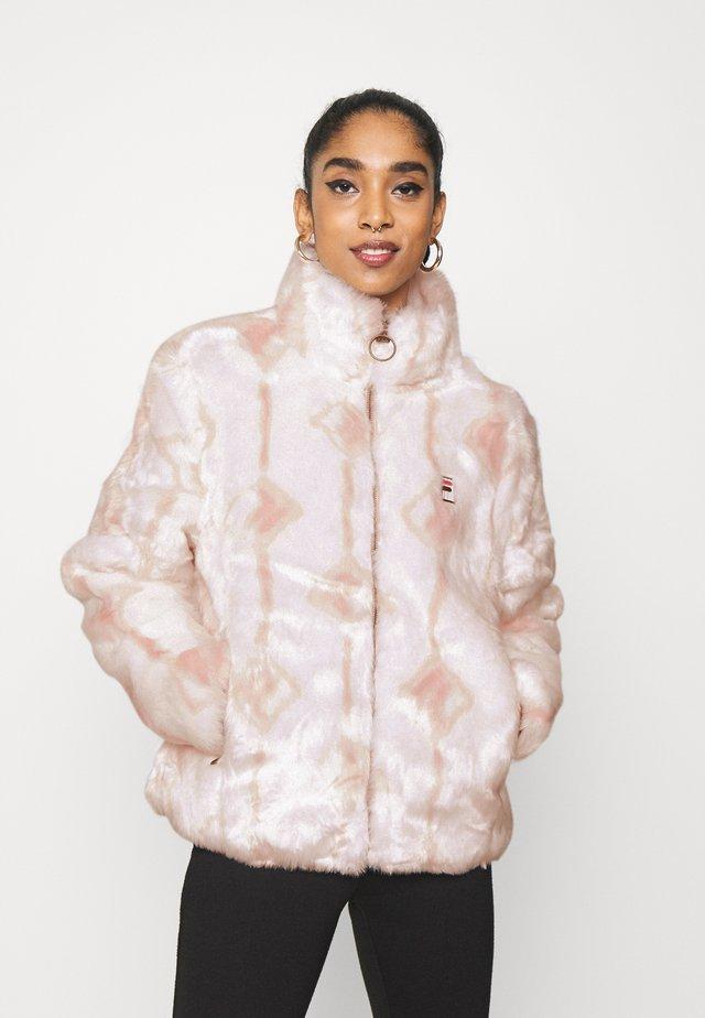 HARUTO JACKET - Zimní bunda - blanc de blanc/sepia rose