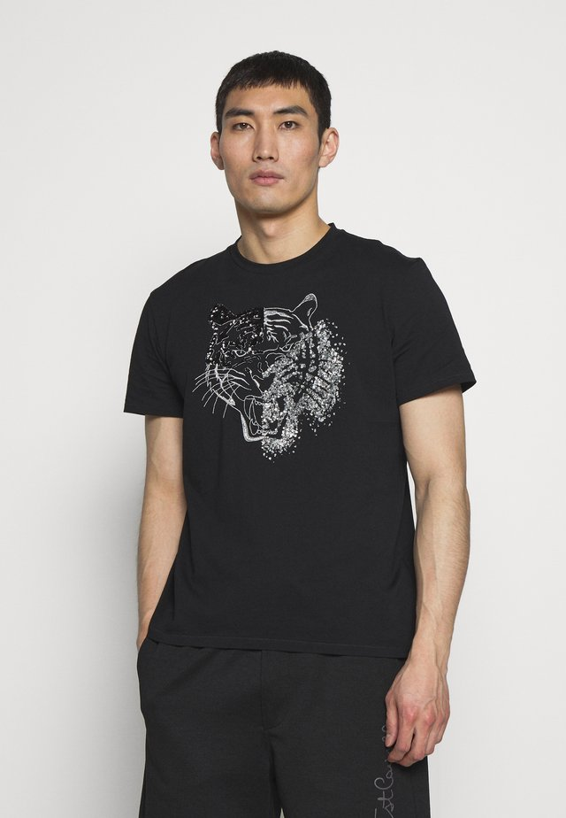 SPARKLY TIGER - T-shirt z nadrukiem - black
