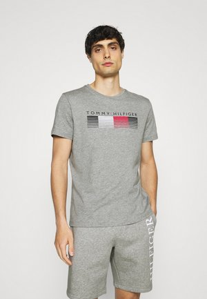 FADE GRAPHIC CORP TEE - T-shirt med print - light grey heather