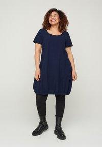 Zizzi - Day dress - blue - 1