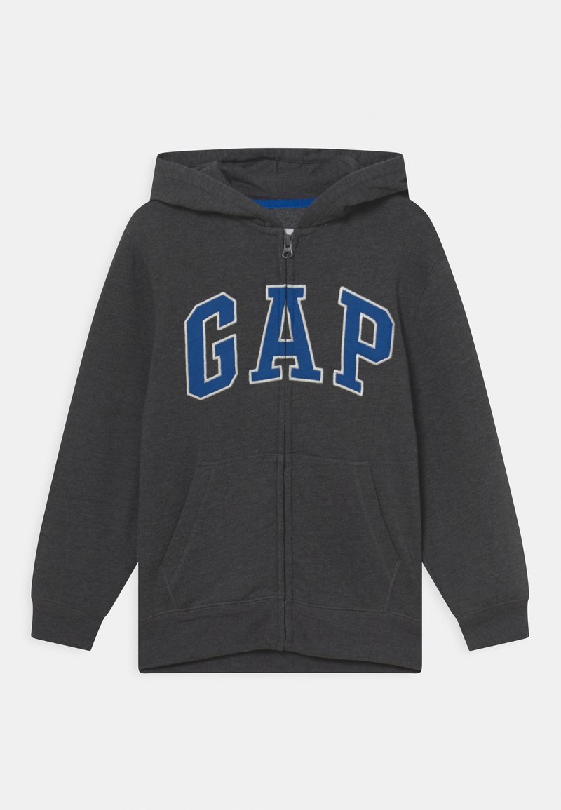 GAP - BOY NEW ARCH HOOD - Sweater met rits - charcoal grey