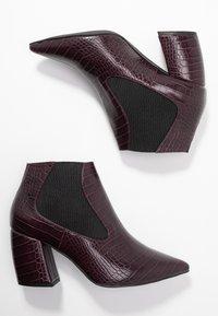 Bianco - BIACANDY TILT CHELSEA - Ankle boot - burgundy - 3