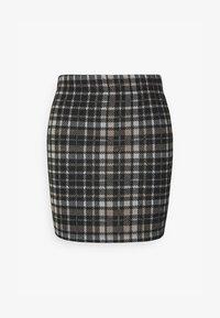JDY - JDYCALLE SHORT PENCIL SKIRT - Mini skirt - black/silver mink /white - 0