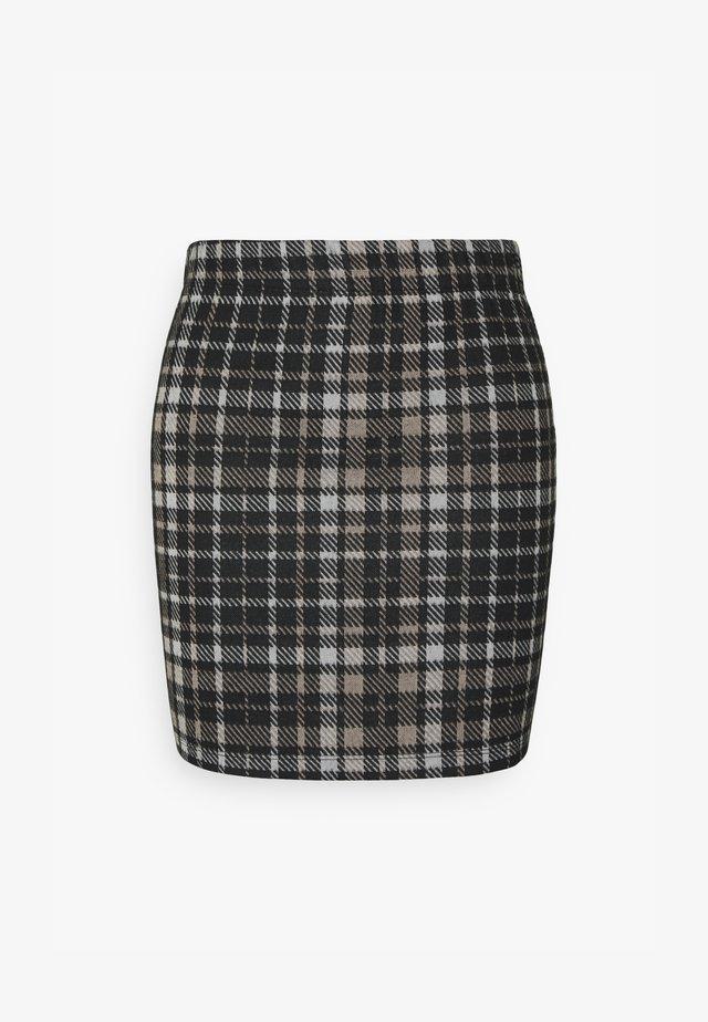 JDYCALLE SHORT PENCIL SKIRT - Minifalda - black/silver mink /white