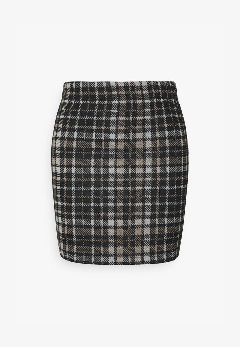 JDY - JDYCALLE SHORT PENCIL SKIRT - Mini skirt - black/silver mink /white