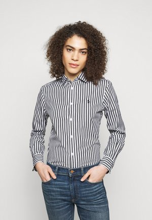 GEORGIA  - Button-down blouse - white/black