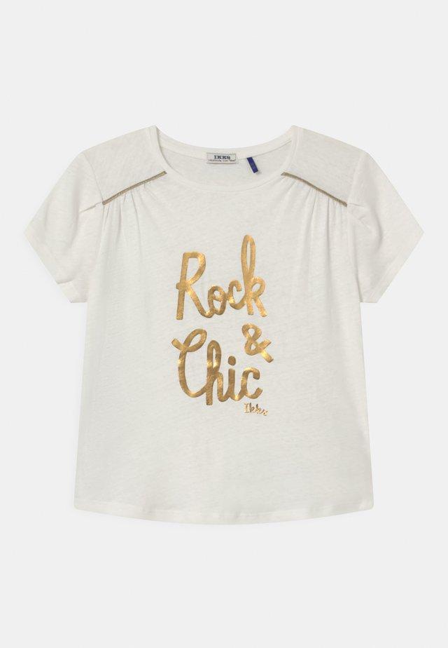TEE - Print T-shirt - blanc