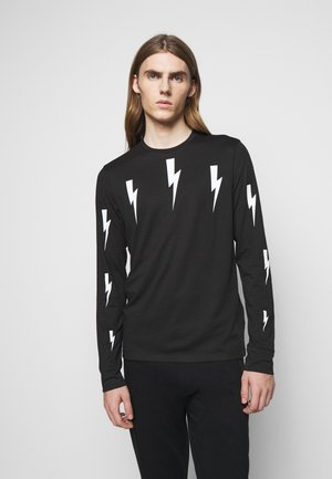 HALO BOLTS PRINT - Long sleeved top - black/white