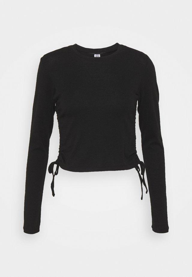 RUCHED  - Langærmede T-shirts - black