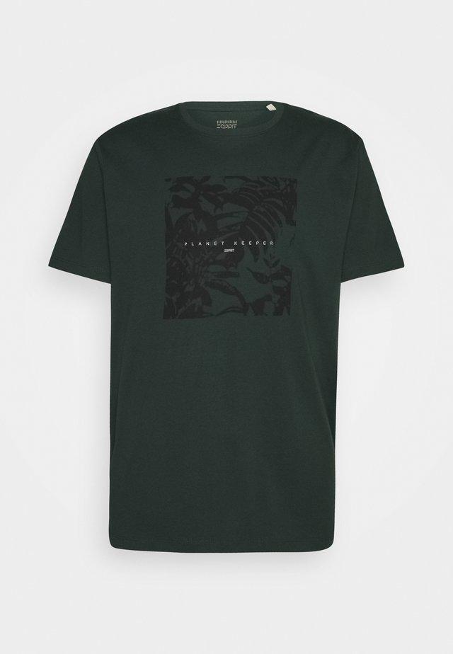 Print T-shirt - teal blue