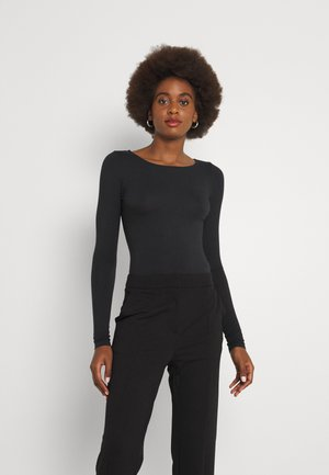 PCNEORA BODYSTOCKING - Long sleeved top - black