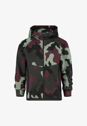 Zip-up sweatshirt - camouflage green
