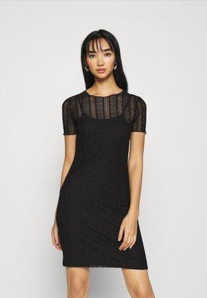 NMMILES MEDI DRESS - Denní šaty - black