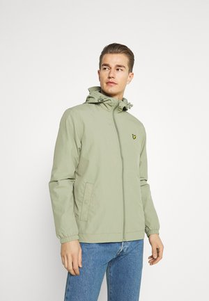 ZIP THROUGH HOODED JACKET - Summer jacket - moss