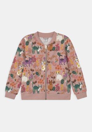 MINI CATS - Zip-up sweatshirt - dusty pink