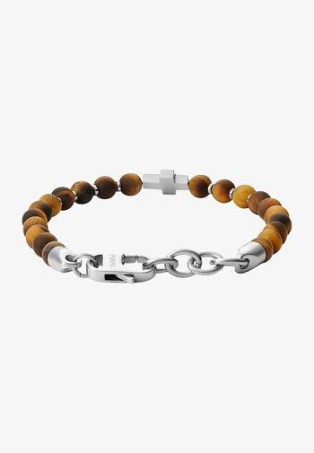 FOSSIL HERREN-HERRENARMBAND EDELSTAHL - Bracelet - brown