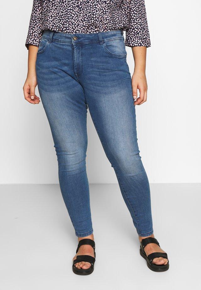SKINNY DENIM INNER TAPE - Jeans Skinny Fit - clean raw blue denim