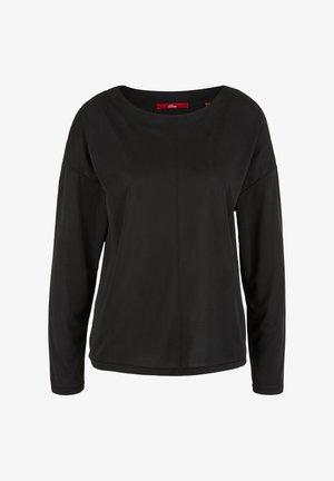 DROPPED SHOULDER - Long sleeved top - black