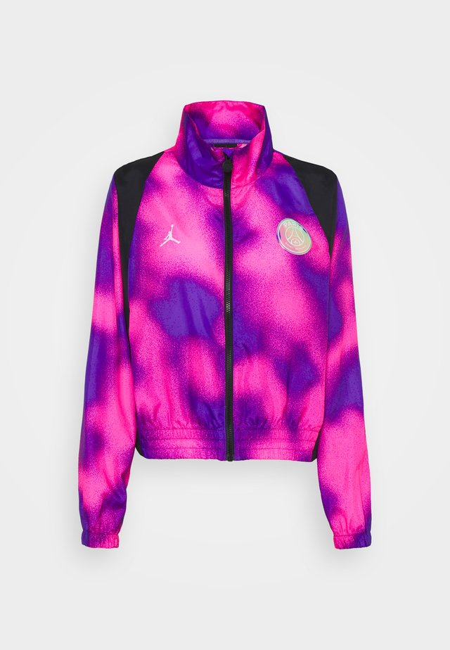 WARM UP - Training jacket - psychic purple/black