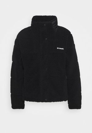 LODGEBAFFLED SHERPA - Fleecejakker - black