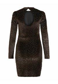 Vila - LEOPARDEN SAMT - Cocktail dress / Party dress - black - 6
