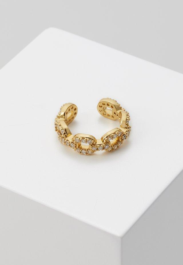 PAVE CHAIN EAR CUFF - Orecchini - pale gold-coloured