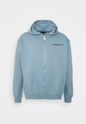 ESSENTIAL REGULAR ZIP UP HOODIE UNISEX - Felpa aperta - sky blue