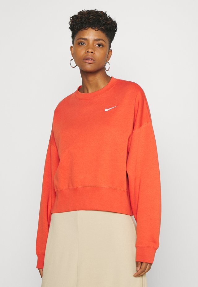 CREW TREND - Sweatshirt - mantra orange/white