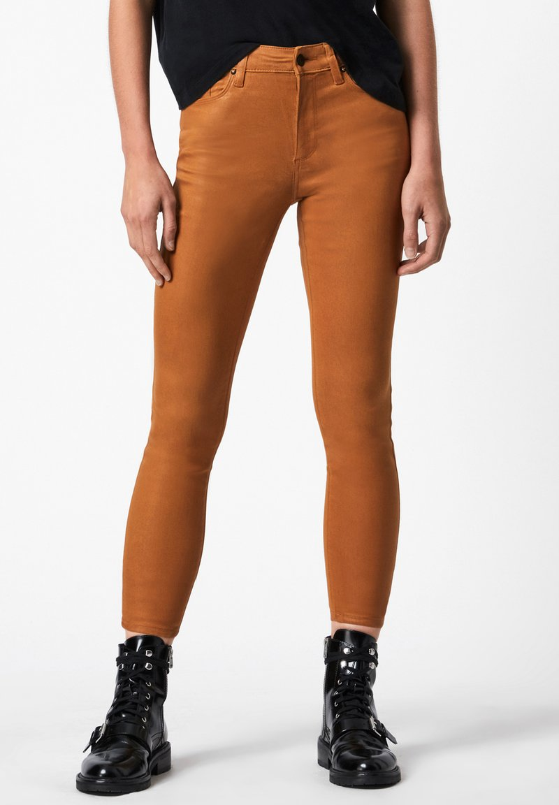 AllSaints - MILLER COATED JEAN - Jeans Skinny Fit - yellow