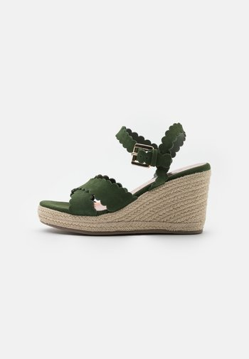 SELANAS - Platform sandals - khaki