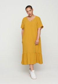 Zizzi - VMACY DRESS - Jersey dress - HARVEST GOLD - 0
