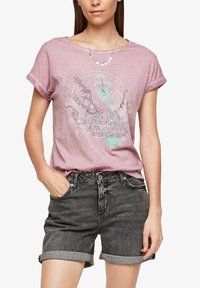 QS by s.Oliver - Print T-shirt - pink placed print - 3