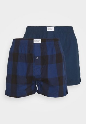 MEN CHECK 2 PACK - Boxer shorts - blue