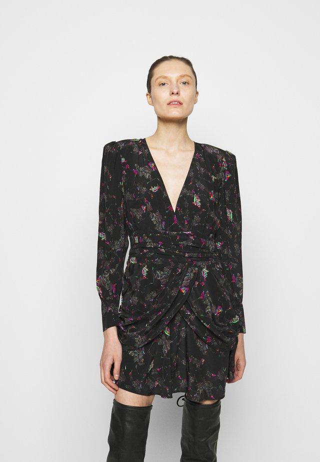 MOKIE DRESS - Korte jurk - black/multicoloured