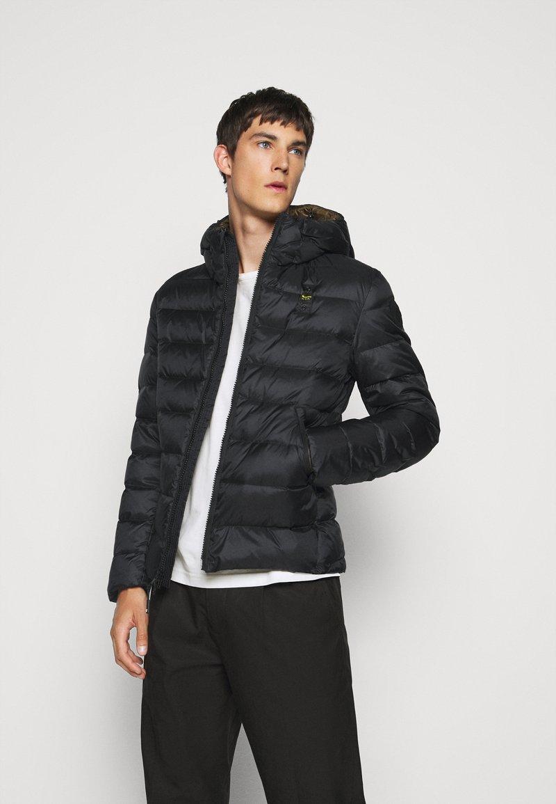 Blauer - GIUBBINI CORTI IMBOTTITO - Down jacket - black/dark olive