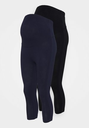2 PACK - Legíny - black/dark blue